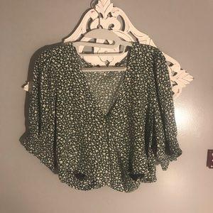 green american eagle blouse